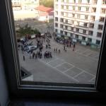 De helt morgenfriske elever møder en halv time før tid.